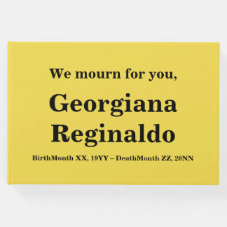 Respectable, Personalized Condolences Guestbook