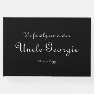 Respectable, Personalized Funeral Guest Book