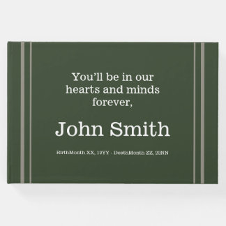 Respectable, Personalized Sympathies Guestbook