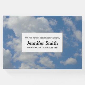 Respectable & Simple Memorial Guestbook
