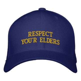 RESPECTYOU R ELDER S EMBROIDERED HAT