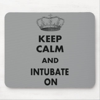 """Respiratory Therapy Gifts """"Keep Calm and..."""" Mouse Pad"""