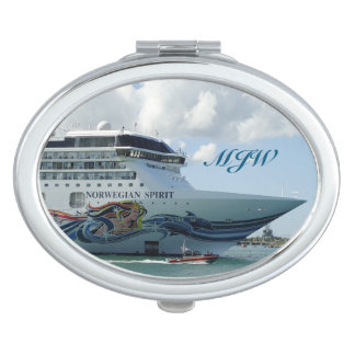 Resplendent Bow Monogrammed Compact Mirrors