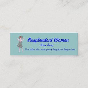 Ebay business cards zazzle au resplendent women promotion business flyer mini business card reheart Gallery