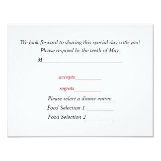 Response Card For Wedding Invitations