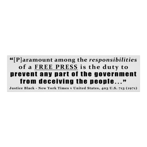Responsibilities of a Free Press Case Law Print