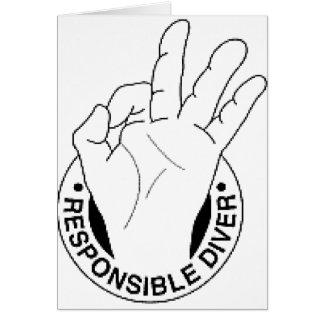 responsible_diver_logo_dark greeting card