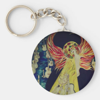 Ressurrection Temple Of Guitars Keychain