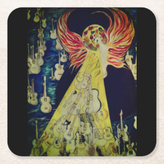 Ressurrection Temple Of Guitars Pulp Board Coaster