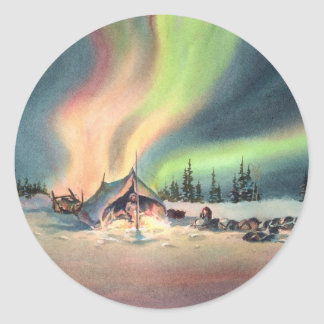 REST for the MUSHERS by SHARON SHARPE Classic Round Sticker
