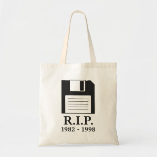 Rest in Peace RIP Floppy Disk Tote Bag