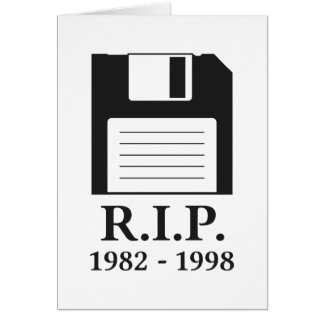 Rest in Peace RIP Floppy Disk Greeting Cards