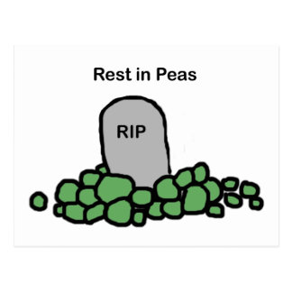 Rest in Peas Postcard
