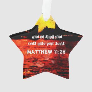 Rest Matthew 11 28-30 Ornament
