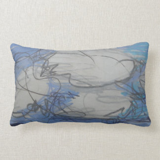Rest on a pillow with a cloud filled sky design.