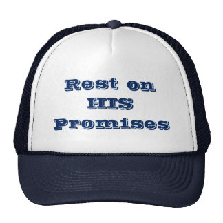 Rest on His Promises Keepsake Collection Cap