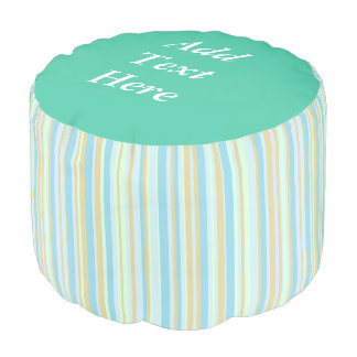 Rest. Relax. Read Pale Blue and Sage Green Pouf