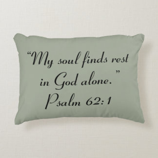 """""""Rest"""" Scripture Accent Pillow"""