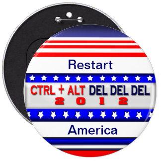 Restart America 6 Cm Round Badge