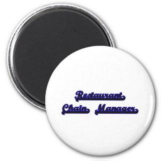 Restaurant Chain Manager Classic Job Design 2 Inch Round Magnet