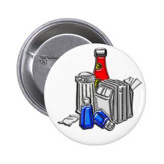 Restaurant Condiments Art Pinback Buttons