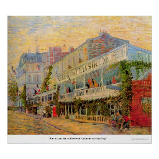 Restaurant de la Sirene at Asnieres by van Gogh Poster