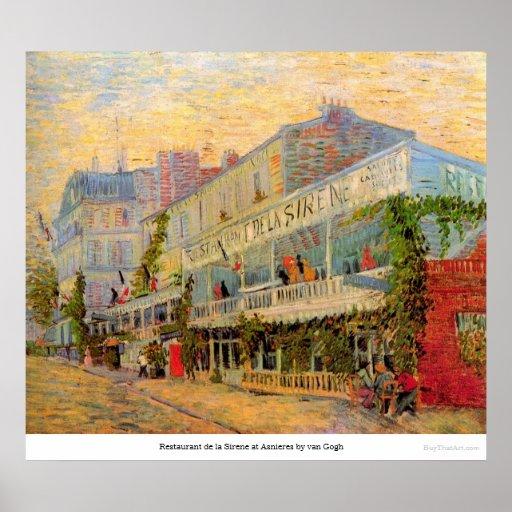 Restaurant de la Sirene at Asnieres by van Gogh Posters