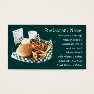 Restaurant / Diner / Cafe Business Cards