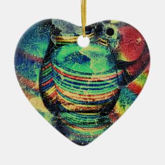 Restaurant Grunge Ceramic Heart Decoration