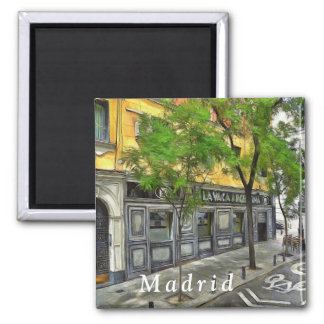 Restaurant in a quiet street of Madrid. Magnet