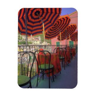 Restaurant in hillside town of Vernazza, Cinque Rectangular Photo Magnet