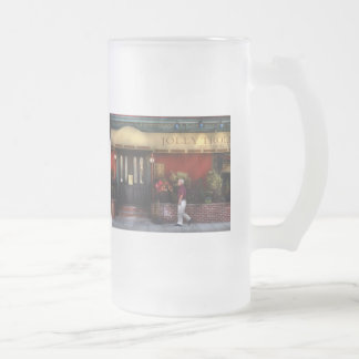 Restaurant - Jolly Trolley Frosted Glass Beer Mug