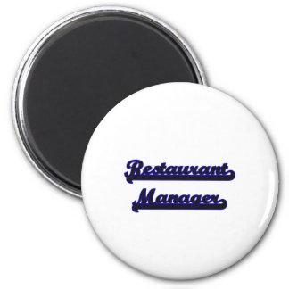 Restaurant Manager Classic Job Design 2 Inch Round Magnet