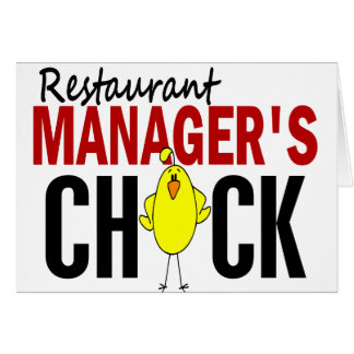 RESTAURANT MANAGER'S CHICK GREETING CARD