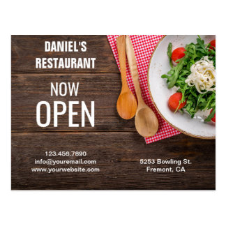 Restaurant Opening | Now Open | Direct Mail Postcard