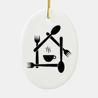 restaurant or a cafe ceramic ornament