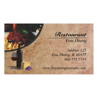 Restaurant Pack Of Standard Business Cards