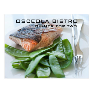 Restaurant Photo Gift Certificate Cards
