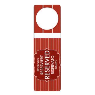 restaurant reserved table sign text symbol door hanger
