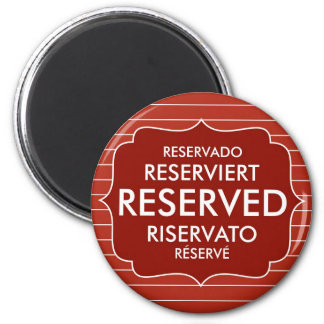 restaurant reserved table sign text symbol magnets