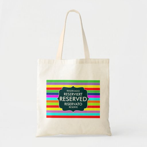 restaurant reserved table sign text symbol stripes tote bags