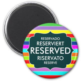 restaurant reserved table sign text symbol stripes fridge magnets
