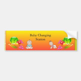 Restaurant Supplies, Baby Changing Station Sticker Bumper Sticker