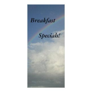 Restaurant Supplies, Breakfast Specials, Rainbow Rack Card