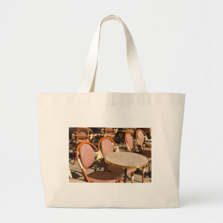 Restaurant table large tote bag