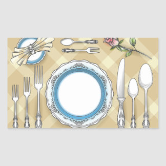 Restaurant Table Setting Stickers