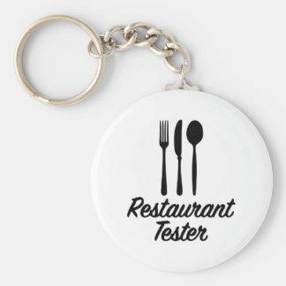 Restaurant tester basic round button key ring