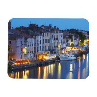 Restaurants along the l'Herault river. L'Herault 2 Rectangular Photo Magnet
