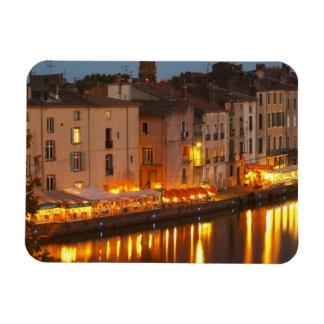 Restaurants along the l'Herault river. L'Herault Rectangular Photo Magnet