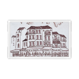 Restaurants Waterfront | Cassis, France Acrylic Tray